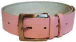 "38mm Bucklebox Pink Leather Belt with Detachable Buckle 1½"" wide"